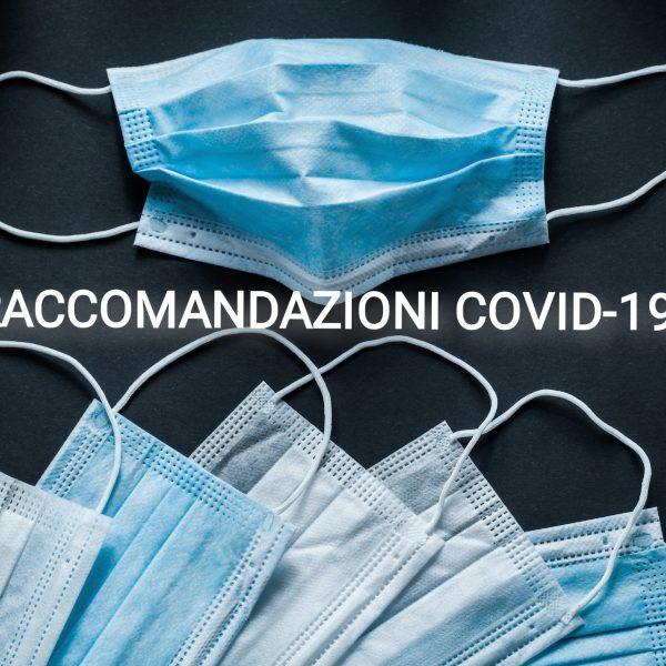RACCOMANDAZIONI COVID 19